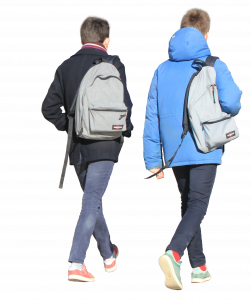 two guys with the same backpacks 26
