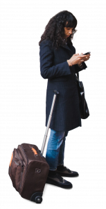 woman with travel bag 26