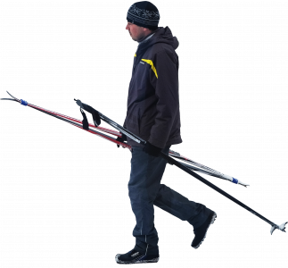 Man with skis 26