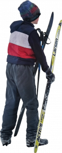 Boy with skis 26