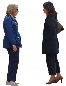 Two women are talking 26