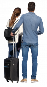 Couple with travel bags 26