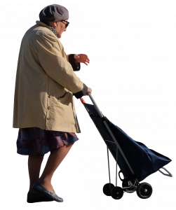 Granny with a trolley bag 26