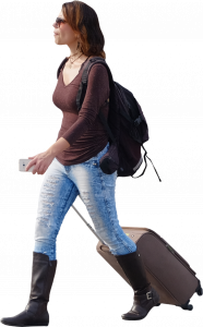 Woman with bags 26