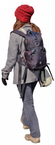 woman with travel backpack 26