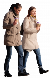 2 woman with a cups of coffee 26