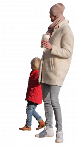 child and woman with coffee 26