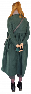 woman in a green coat 26