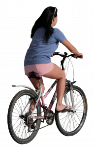 woman on the bicycle 26