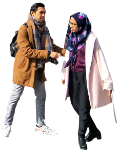 2 people in a coat and with scarves 26