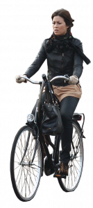 woman on bicycle 26